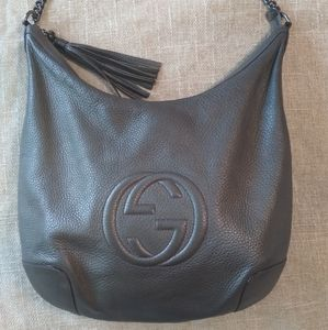 Gucci Soho Leather Chain Medium Hobo Bag